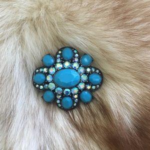 Blue Stone Vintage Brooch